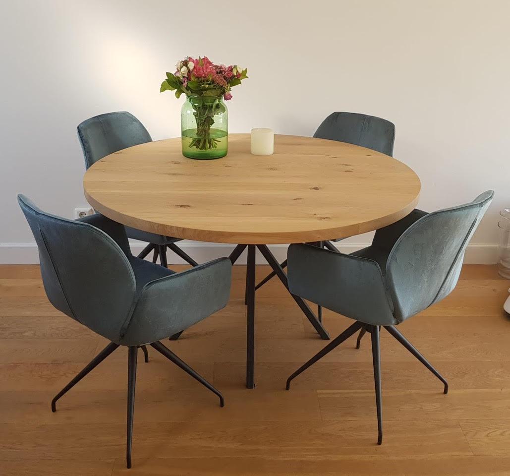 Ronde Eetkamertafel Modern.Ronde Eettafel Op Maat De Houtfabriek