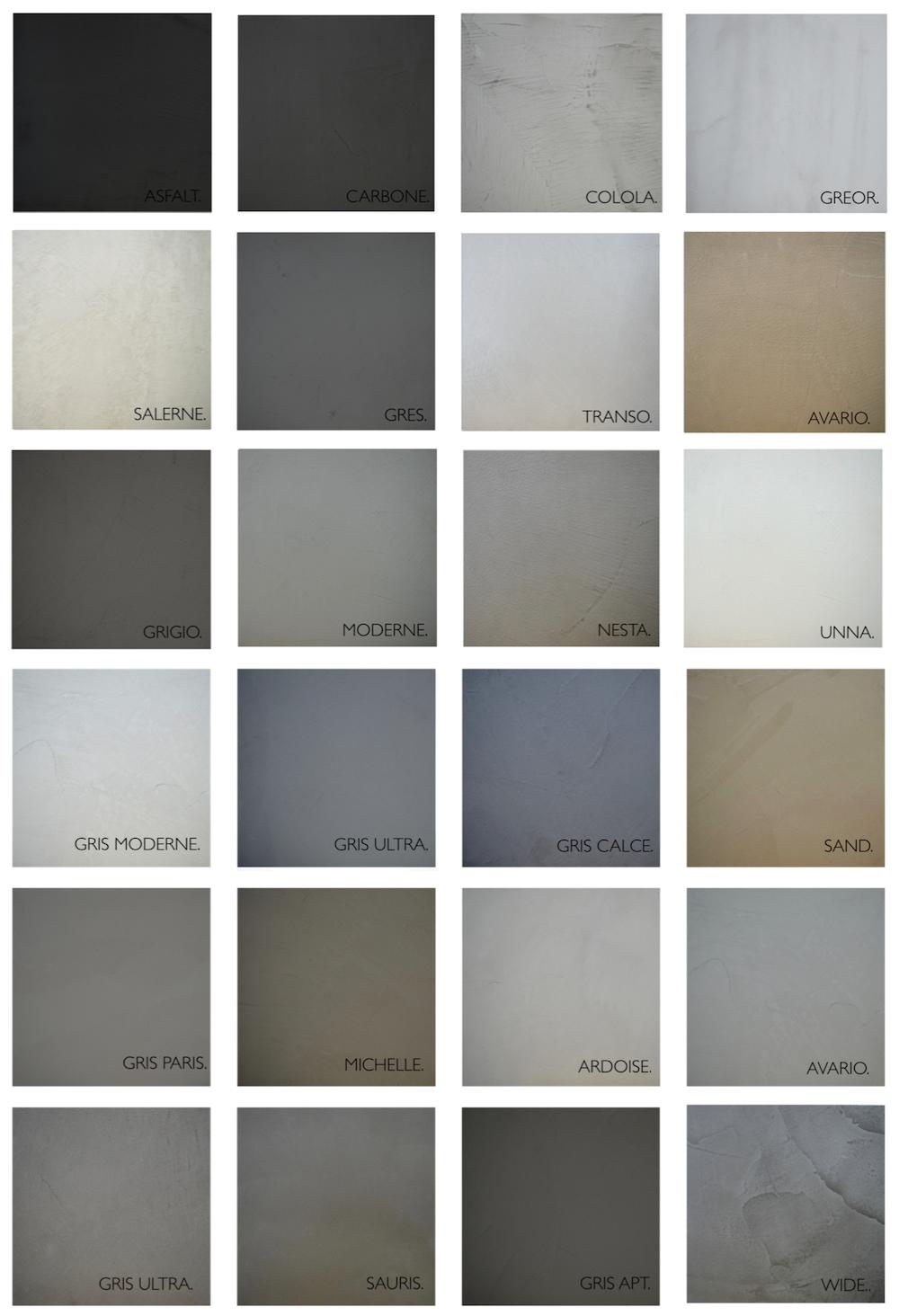 Kleuren betonlook gietvloer