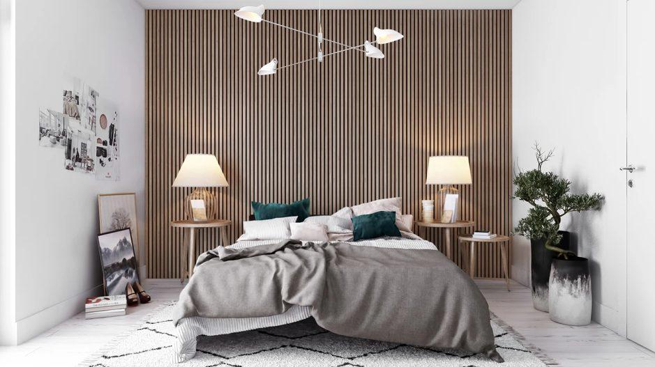 wandpaneel slaapkamer warm